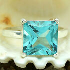 Simulated Aquamarine 925 Sterling Silver Ring Jewelry Size 6-9 DGR1074_H
