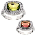 Faceted Colorchange Alex(Lab) & Cz 925 Sterling Silver Ring Jewelry DGR1073_L