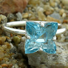 Aquamarine Simulated 925 Sterling Silver Rings Jewelry Size 6-10 DGR1082_I