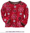 Baby Gap NWT Red FLORAL SCALLOP EDGE DRESS TOP TEE KNIT SHIRT 0 3 12 18 24 Month