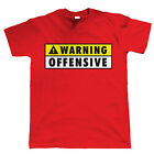 Warning Offensive Mens Funny T Shirt, Gift for Dad Him Birthday