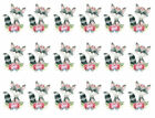Watercolor Retro Woodland Animals Raccoon Flowers Waterslide Decals AN832
