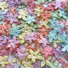 10,50,100 Pastel tMulberry Paper Christmas Poinsettias Flowers Scrapbook Craft