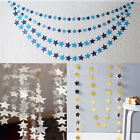 4M Christmas Paper Garland Star Shape String Hanging Banners Wedding Party Decor