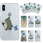 Slim Clear My Neighbor Totoro TPU Phone Case Covers For iPhone X 5/6s/7/8 Plus