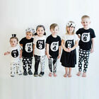 One Family Toddler Kids Baby Boys Girls Clothes Short Sleeve Tops T-Shirt Blouse
