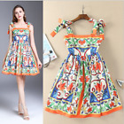 Occident spring hot sale Modern Vintage Printed sexy enchanting princess dress