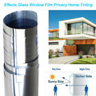 Kyпить Window Film Privacy One Way Tint Reflection Solar Reflective Sticker Silver DIY на еВаy.соm