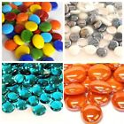 100 (apx 450g) Coloured Glass Pebbles 20mm Home Wedding Mosaic - 100+ Choices