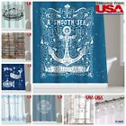 Inspirational Quotes Waterproof Fabric Shower Curtain Bathroom Hooks Set 72Inch