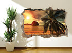 Beach at Sunset palm tree tropical island wall sticker wall mural (11519606)