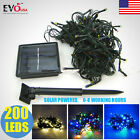 200 LEDs Solar Powered String Fairy Tree Light Outdoor Wedding Party Xmas Decor
