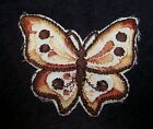 "Embroidered Butterfly Applique Brown Tan Iron-on 2.5"" Choose Quantity 2 3 4 5"