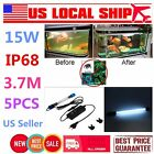 15W IP68 Aquarium Fish Tank Submersible Light UV Sterilizer Water Clean Lamp RQD