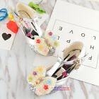 New Summer Kids Young Girls Princess High Heeled Sandals Colorful Beads Sweet