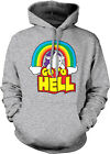 Go To Hell - Unicorn Rainbow Sarcastic Mythical Horse Imaginary HOOD