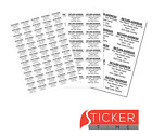Personalised Pre Printed Return Address Sticky Adhesive Labels on A4 sheets
