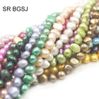 """Jewelry Making Natural Freeform Freshwater Cultured Pearl Bead Strand 14""""6-7mm"""