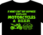 Biker T shirt Motorcycle Classic custom beer