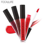 FOCALLURE Metallic Long Lasting Matte Waterproof Makeup Lipstick Liquid Gloss US