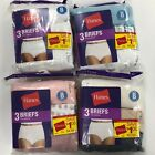 Hanes Women's Cotton Brief Panty, Sz 8, Choose Your Colors (Pack of 6)