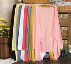 18 Colors Summer Women's Lady's Casual Open Cardigan Sweater Long Sleeves Top