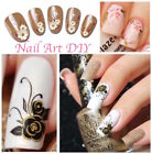 Nail Art Water Decals Transfer Stickers-Fiori Farfalle-Decorazione Unghie !