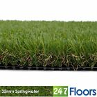 Soft Artificial Grass, Realistic Garden Lawn, Natural Astro Turf 35mm Pile 2m 4m