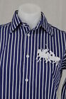 NWT Ralph Lauren Dual Double Match Big Pony Button Down Shirt Striped Navy White