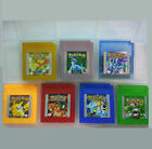 7 Pieces Game Cards Carts For Nintendo Pokemon GBC GB Game Boy Color Version