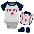 Boston Red Sox BASEBALL KID Baby Infant Set, Bodysuit, Bib and Booties