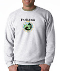 Gildan Long Sleeve T-shirt City State Country Indiana State Seal 2018