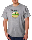 Gildan Short Sleeve T-shirt USA State Seal Vermont Big