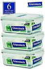 Glasslock Food-Storage Container Airtight Lids Microwave Safe 6pcs Set in 9sizes
