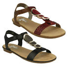 SALE RIEKER LADIES 64278 OPEN TOE T BAR CLASSIC CASUAL BEACH SUMMER FLAT SANDALS