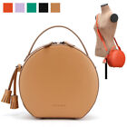 WOMEN'S HANDBAG CASUAL SMALL ROUND IRENE SHOULDER CROSS BAG PURSE FAUX LEATHER