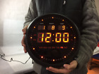 Round LED Large 30cm Digital Wall Clock TL-2802 Date Time Calendar Alarm Office