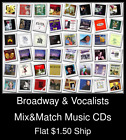 Broadway & Vocalists(3) - Mix&Match Music CDs U Pick *NO CASE DISC ONLY*