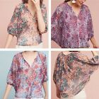Anthropologie Josephine Top by Weston Floral Motif NWT PXS PS Retail $78