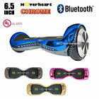6.5 Hoverboard with Bluetooth,Heavy Duty CHROME COLOR Scooter UL Listed Powerful