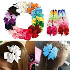 """20/40Pcs 3"""" Baby Girls Grosgrain Ribbon Boutique Hair Bows For Teens Toddlers US"""