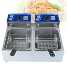 5.5L/11L Electric Countertop Deep Fryer Dual Tank Commercial Restaurant 110V USA