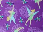 Disney Fabric Tinkerbell Toss Purple Quilting Cotton FQ BTHY BTY