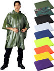 Внешний вид - Rain Hooded Poncho, Waterproof Heavy Vinyl Reusable Emergency Adult Rain Coat