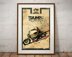 "Triumph Motorcycle 1972 Handbook POSTER! (Full-size 24""x36"" or smaller) - Clymer $28.0 USD on eBay"