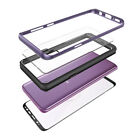 For Galaxy S9 S8 Note 8 Clear Case Cover Tempered Glass Shockproof Hybrid Bumper