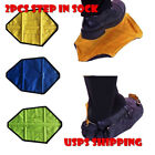 shoe covers cycling - US! 2 Pcs Step in Sock Reusable One Step Hand Free Automatic Sock Shoe Covers