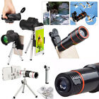 40X/18X/12X/8X Clip-On Zoom Lens Telescope Telephoto For Samsung Smart Phone