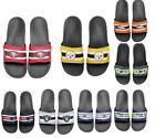 NFL Football Mens Team Logo Legacy Stripe Sport Shower Slide Flip Flop Sandals