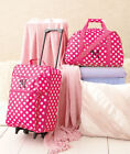 3pc LUGGAGE MONOGRAM PERSONALIZED Initial ROLLING SUITCASE DUFFEL BAG Kid Pink